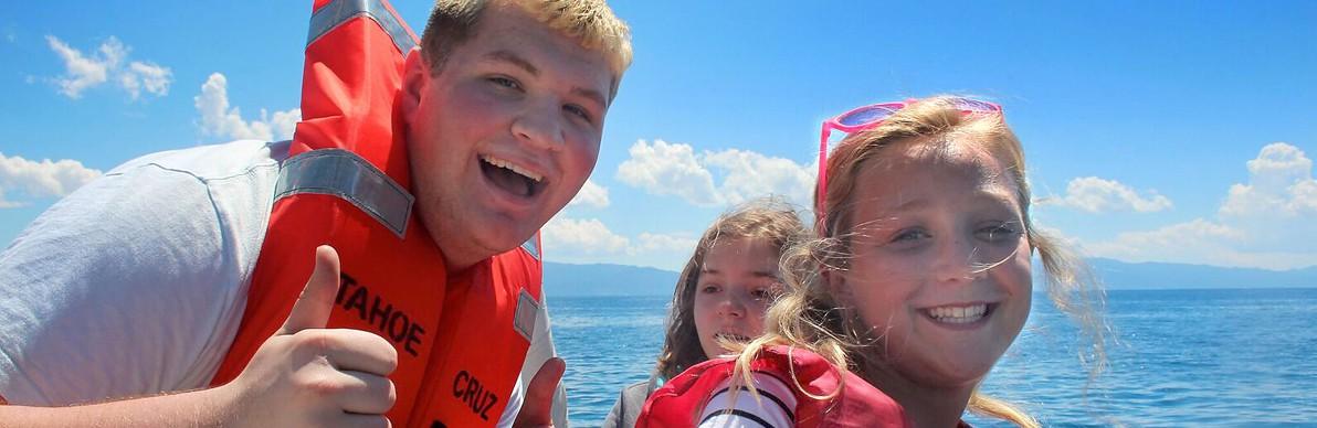8 big smiles on lake